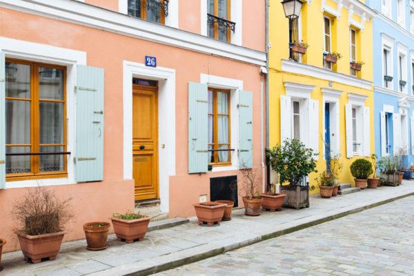Bright homes on hidden Paris street