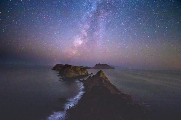 california channel islands with starry sky
