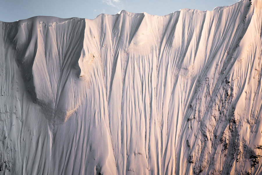 Close up of Chinese glacier.