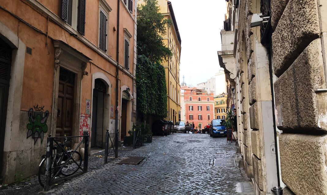 View down a Monti street