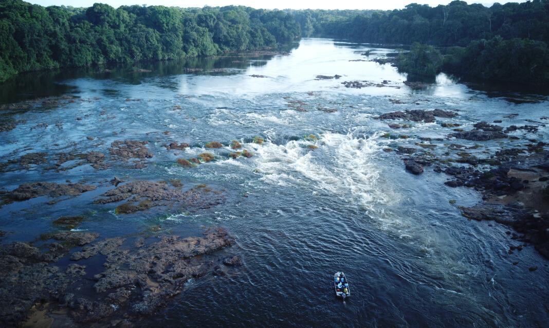 Rapids through a rainforest