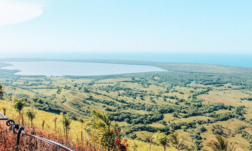 View of Dominican countryside from Montaña Redonda