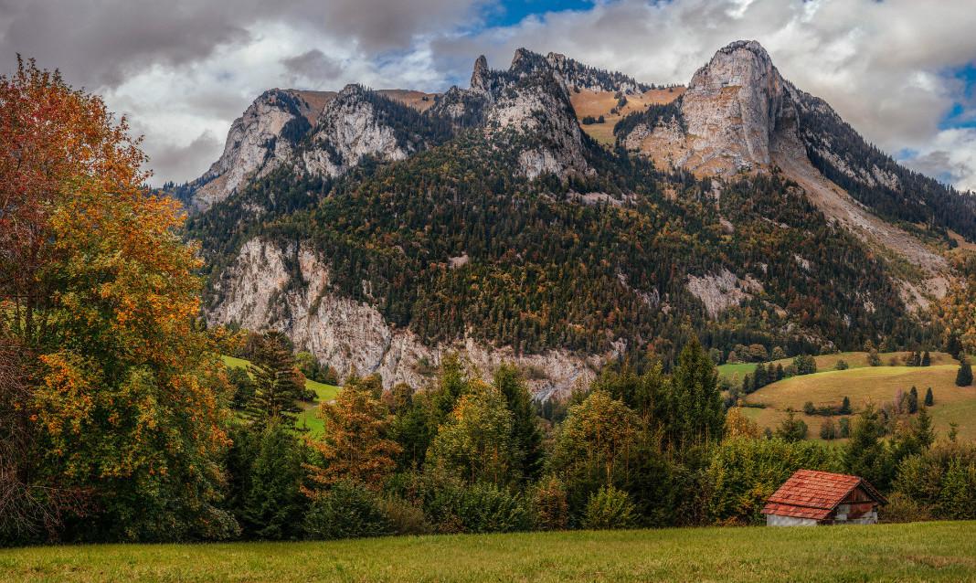 Switzerland in the fall (shoulder season).