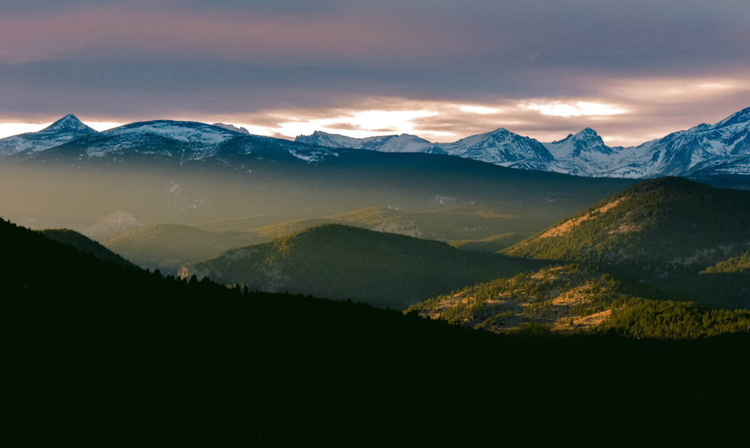A sunset in Colorado, land that formerly belonged to several Native American groups.