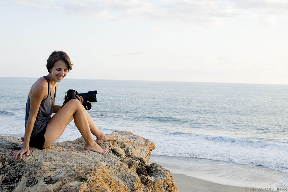 Anna Mazurek by the beach in Mexico