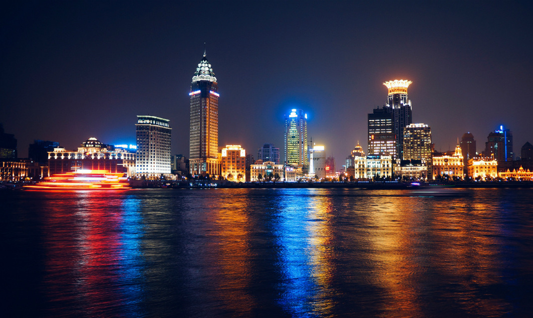 A waterfront skyline in China, an extremely popular TEFL destination.