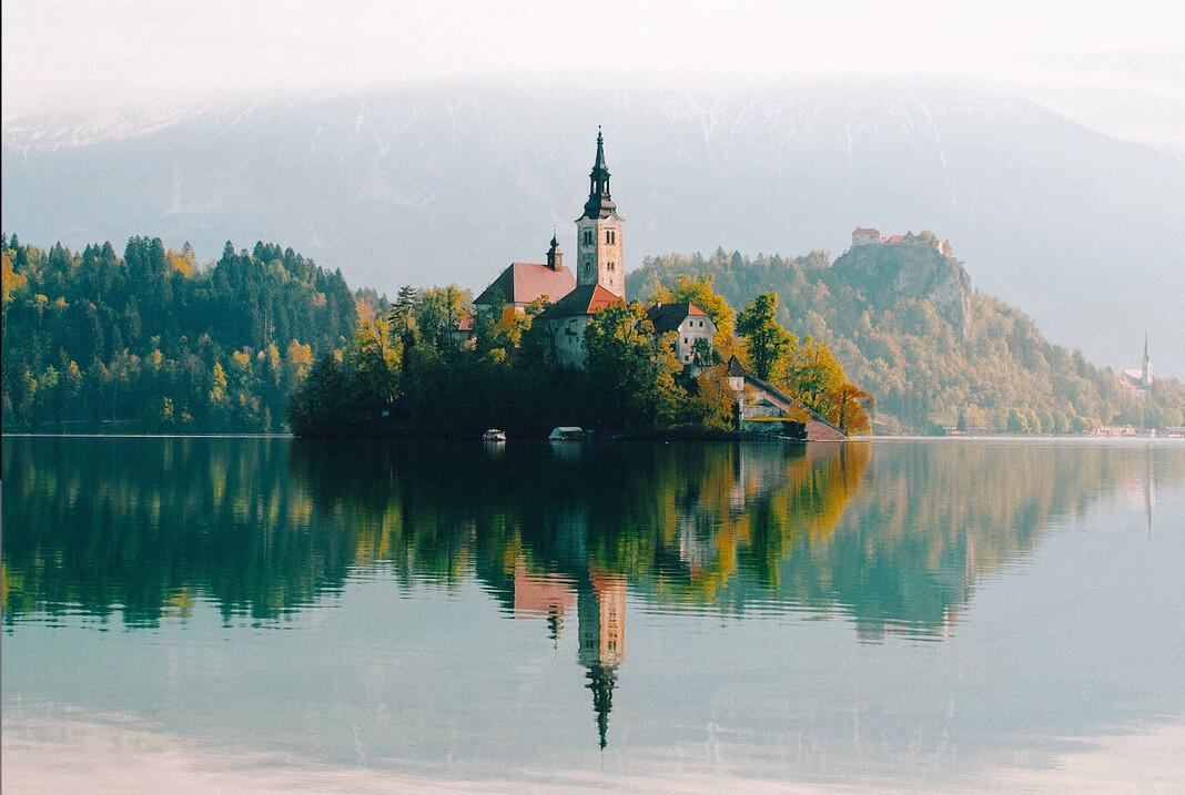 church on an island