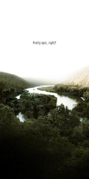 winding river at dawn
