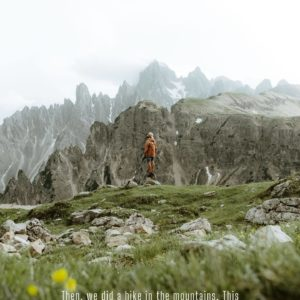 cascading mountain peaks