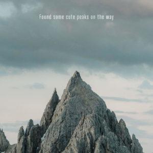 tall mountain peak at dusk