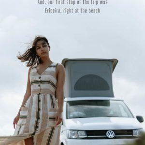 girl with van