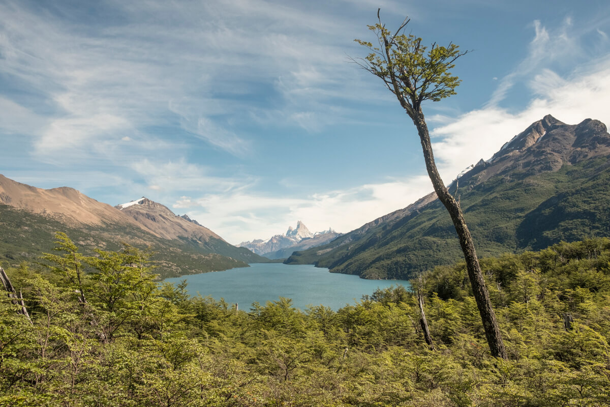 glaciers and mountains in patagonia