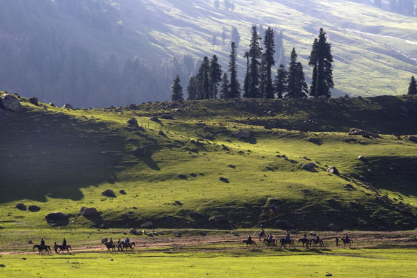 aru valley with cloud shadows kashmir
